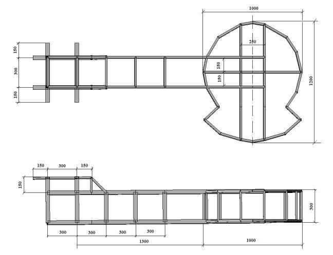 Рабочая схема конструкции