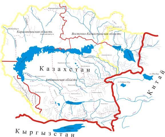 Балкаш. Общая длина реки 1439