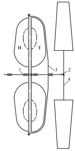 Рис. 1 Кинематическая схема