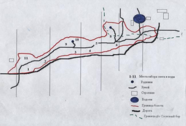 Схема сфагнового болота с